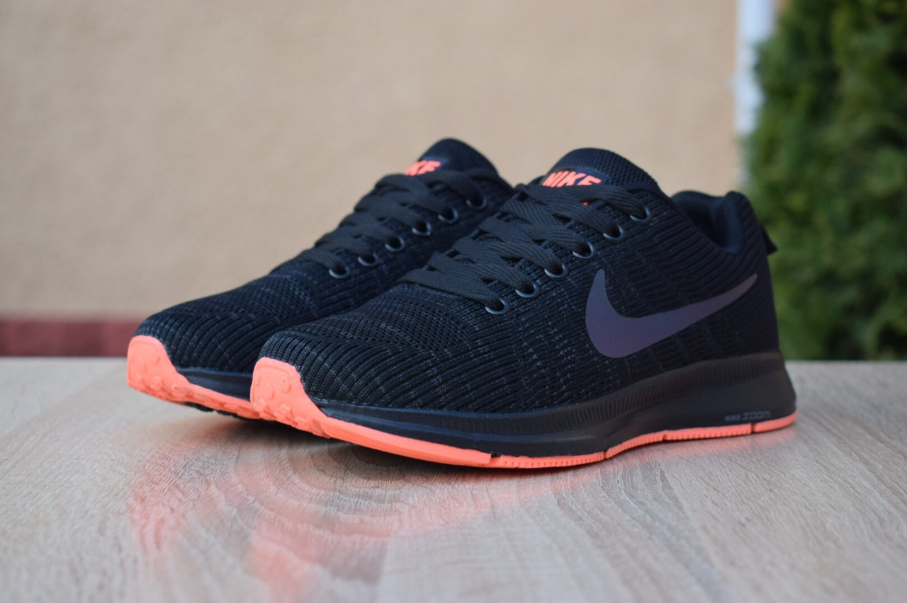 wholesale dealer 1642d 4940f Женские кроссовки в стиле Nike Zoom Pegasus, текстиль, сетка, пена, черные  39 (24,5 см)