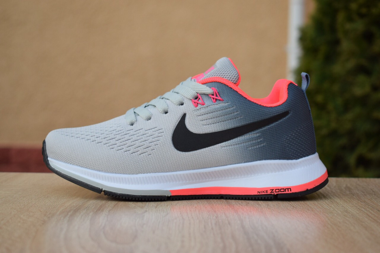 promo code 1a19b c7e2f Женские кроссовки в стиле Nike Zoom Pegasus, текстиль, сетка, пена, серые  37 (23,5 см)