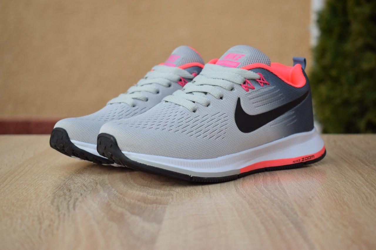 wholesale dealer 790ae 0b6a6 Женские кроссовки в стиле Nike Zoom Pegasus, текстиль, сетка, пена, серые  37 (23,5 см) - Bigl.ua