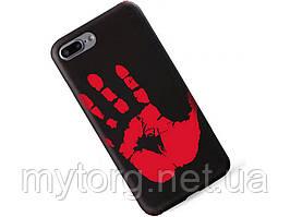 Термочувствительный чехол Ranipo для смартфона iPhone 7 Plus Черный