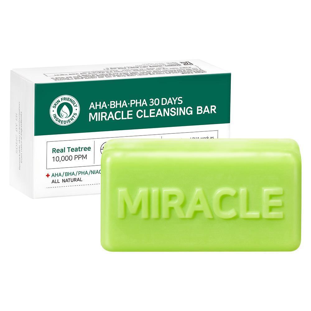 Очищающее мыло для проблемной кожи SOME BY MI AHA BHA PHA 30 Days Miracle -  95г