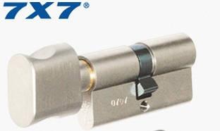 Цилиндр Mul-T-Lock 7х7  76мм.(38х38) ключ-тумблер (матовый хром)