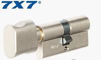 Цилиндр Mul-T-Lock 7х7 110мм.(55х55) ключ-тумблер (матовый хром)