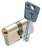 Цилиндр Mul-T-Lock 7х7 62мм.(27х35) ключ-ключ (матовый хром)