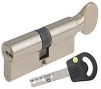 Цилиндр Mul-T-Lock INTERACTIVE 115мм.(50х65) ключ-тумблер (матовый хром)
