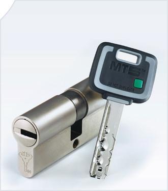 Цилиндр Mul-T-Lock MT5+ 95мм.(35х60) ключ-ключ (матовый хром)