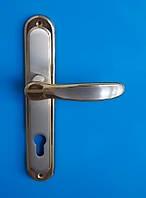 Ручка дверная на планке DOGANLAR SERCE YALE  85 мм. сатен/альберфин