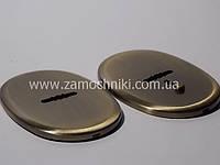 Накладки под сувальдный ключ бронза