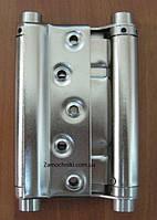 Петля двухсторонняя 100х80мм МERT N29 сатин Ковбойская,маятниковая,барная
