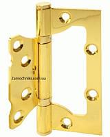 Петли дверные бабочка, без врезки 100 мм. золото