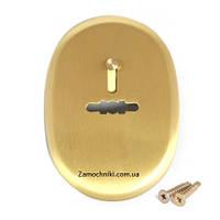 Накладка сувальдная Apecs DP-S-10-GМ золото матовое