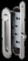 Замок с ручками для раздвижной двери Armadillo SH011-BK SN матовый никель