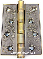 Петли дверные универсальные Trion 100х30 мм. бронза