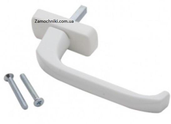 Ручка Омега на окна металлопластиковые белая (Ручка на окна)