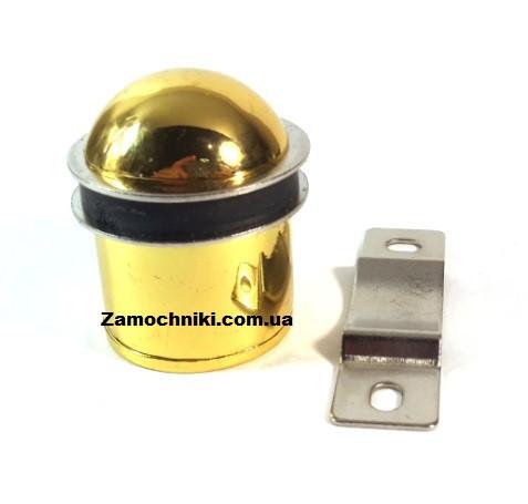 Дверной упор магнитный с пластиной желтый