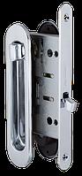 Замок с ручками для раздвижной двери Armadillo SH011-BK CP