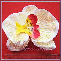 Головка орхидеи 12 см белая