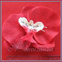 Головка орхидеи 12 см красная