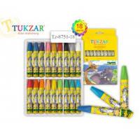 TZ 8751-18 Пастель масляная для детского творчества 18цв TUKZAR
