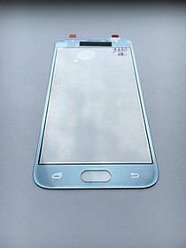 Стекло дисплея для Samsung J330 Galaxy J3 (2017) голубое