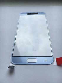 Стекло дисплея для Samsung J530 Galaxy J5 (2017) голубое