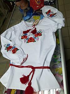 Рубашка Вышиванка детская подростковая для девочки р. 140 - 164
