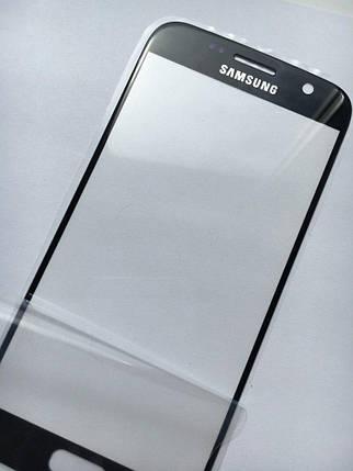 Стекло дисплея для Samsung G930 Galaxy S7 черное, фото 2