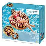 Intex надувний круг 56262 «Шоколадний пончик», 114 см, фото 3