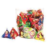 Пирамидка с шоколадным драже  Маша и Медведь 50 шт упаковка