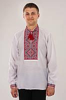 Вышиванка мужская красная, фото 1