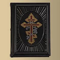 Книга кожаная Библия Крест с лозой (М2), фото 1
