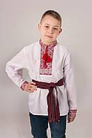 Вышиванка детская с красным орнаментом, фото 1