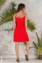 """Льняное летнее мини-платье """"Ореол"""" на бретелях (3 цвета), фото 2"""
