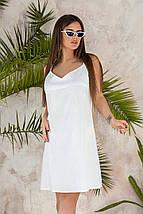 """Льняное летнее мини-платье """"Ореол"""" на бретелях (3 цвета), фото 3"""