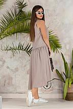 """Льняное асимметричное платье """"Валенсия"""" с заниженной талией (3 цвета), фото 3"""