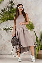 """Льняное асимметричное платье """"Валенсия"""" с заниженной талией (3 цвета), фото 2"""