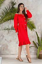 """Льняное платье-халат """"Варя"""" с оголенными плечами (4 цвета), фото 2"""