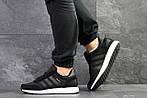 Чоловічі кросівки Adidas Iniki (чорні), фото 3