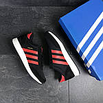 Чоловічі кросівки Adidas Iniki (чорно-червоні), фото 5