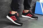 Чоловічі кросівки Adidas Iniki (чорно-червоні), фото 2