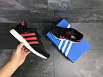 Чоловічі кросівки Adidas Iniki (чорно-червоні), фото 6
