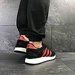 Мужские кроссовки Adidas Iniki (черно-красные) , фото 4