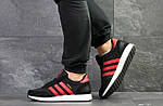 Чоловічі кросівки Adidas Iniki (чорно-червоні), фото 3