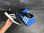 Мужские кроссовки Adidas Iniki (темно-синие с белым) , фото 5