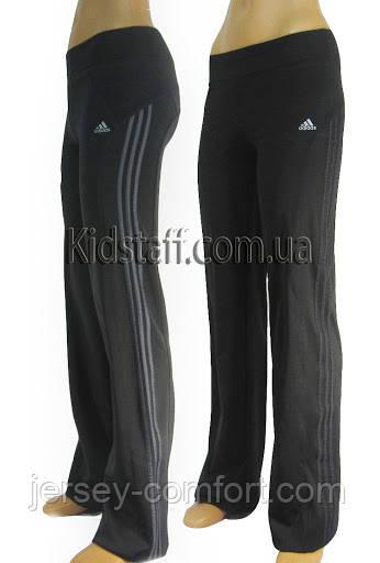 Спортивные брюки спортивные женские (эластан) черные
