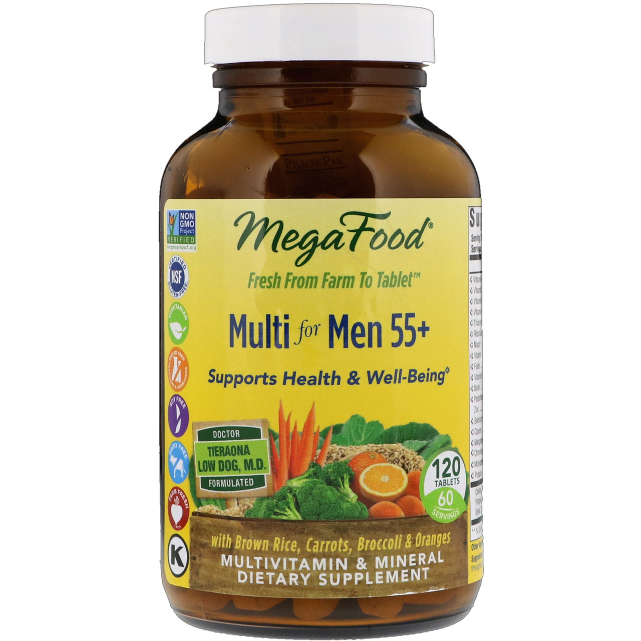 Мультивитамин для мужчин от 55 лет, MegaFood, 120 таблеток