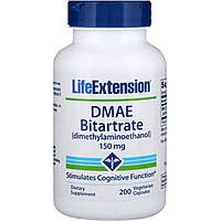 DMAE битартрат, Life Extension, 150 мг, 200 капсул