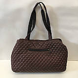 Женские стеганные сумки дешево опт до 100грн Chanel (каштан)26*51см, фото 2