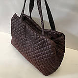 Женские стеганные сумки дешево опт до 100грн Chanel (каштан)26*51см, фото 3