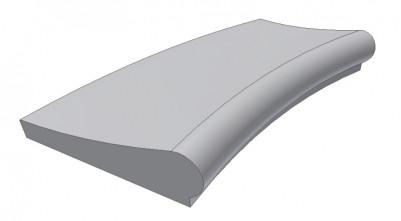 Копинговый камень с внутренним радиусом Florida ScandiRoc- White для облицовки борта бассейна